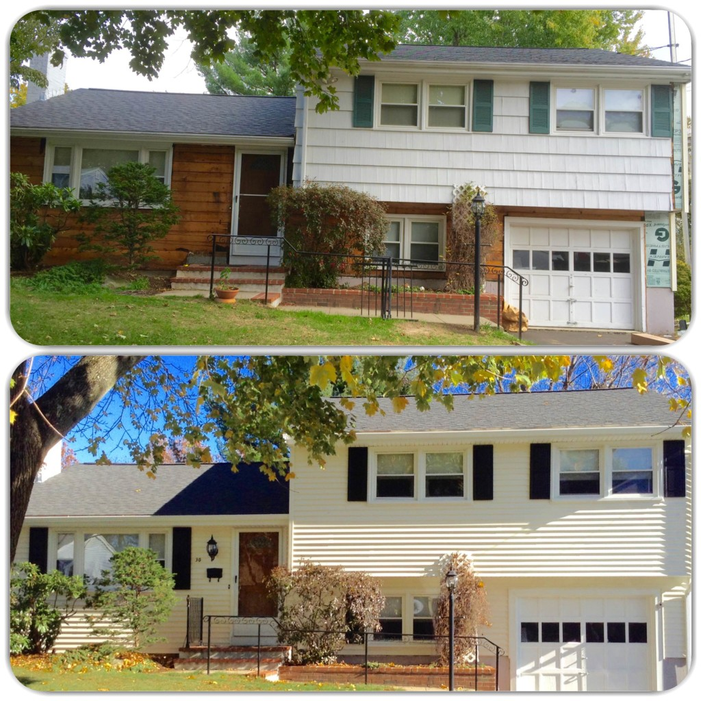 before and after of vinyl siding