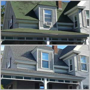 before & after roof