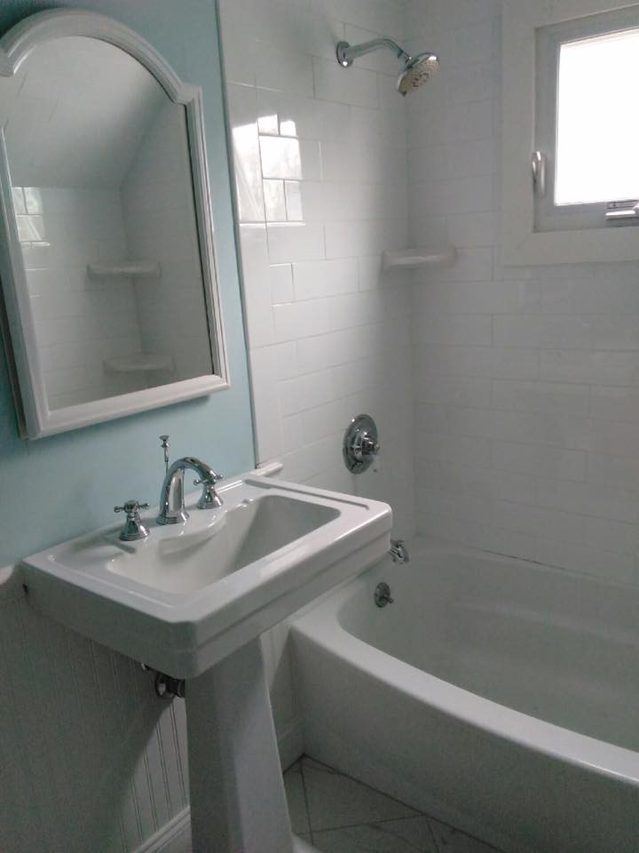 Bathroom Remodeling Quincy Ma bathroom remodel with subway & carrara tile near quincy, ma